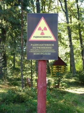 Foto Warnschild Radioaktivität